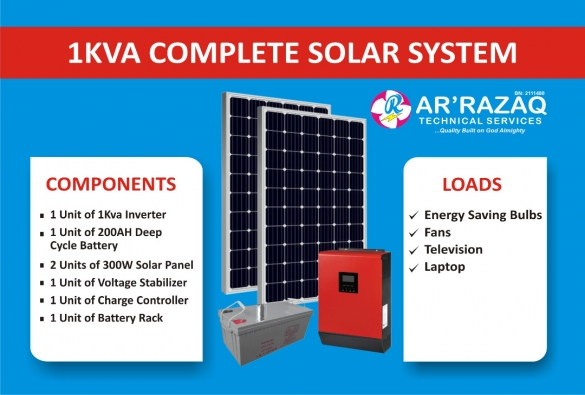 Complete 1Kva Solar System