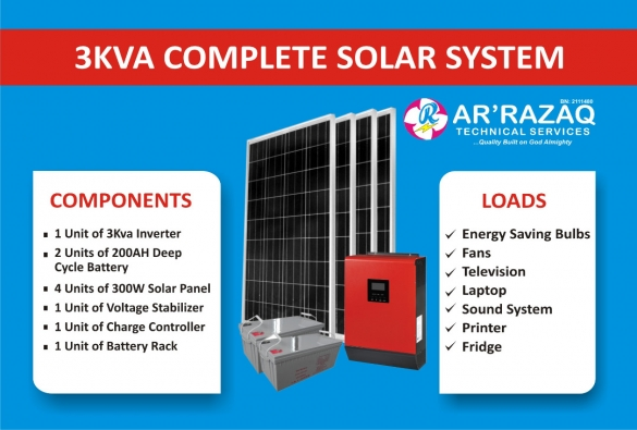 Complete 3Kva Solar System