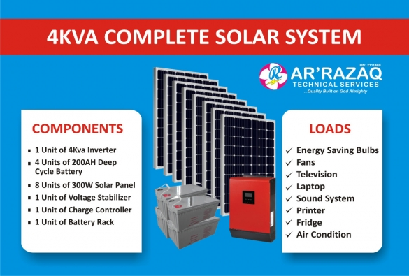 Complete 4Kva Solar System