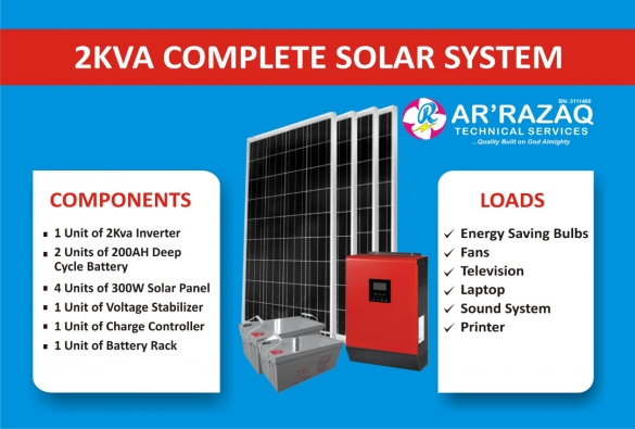 Complete 2Kva Solar System
