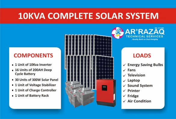 Complete 10Kva Solar System