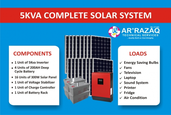 Complete 5Kva Solar System